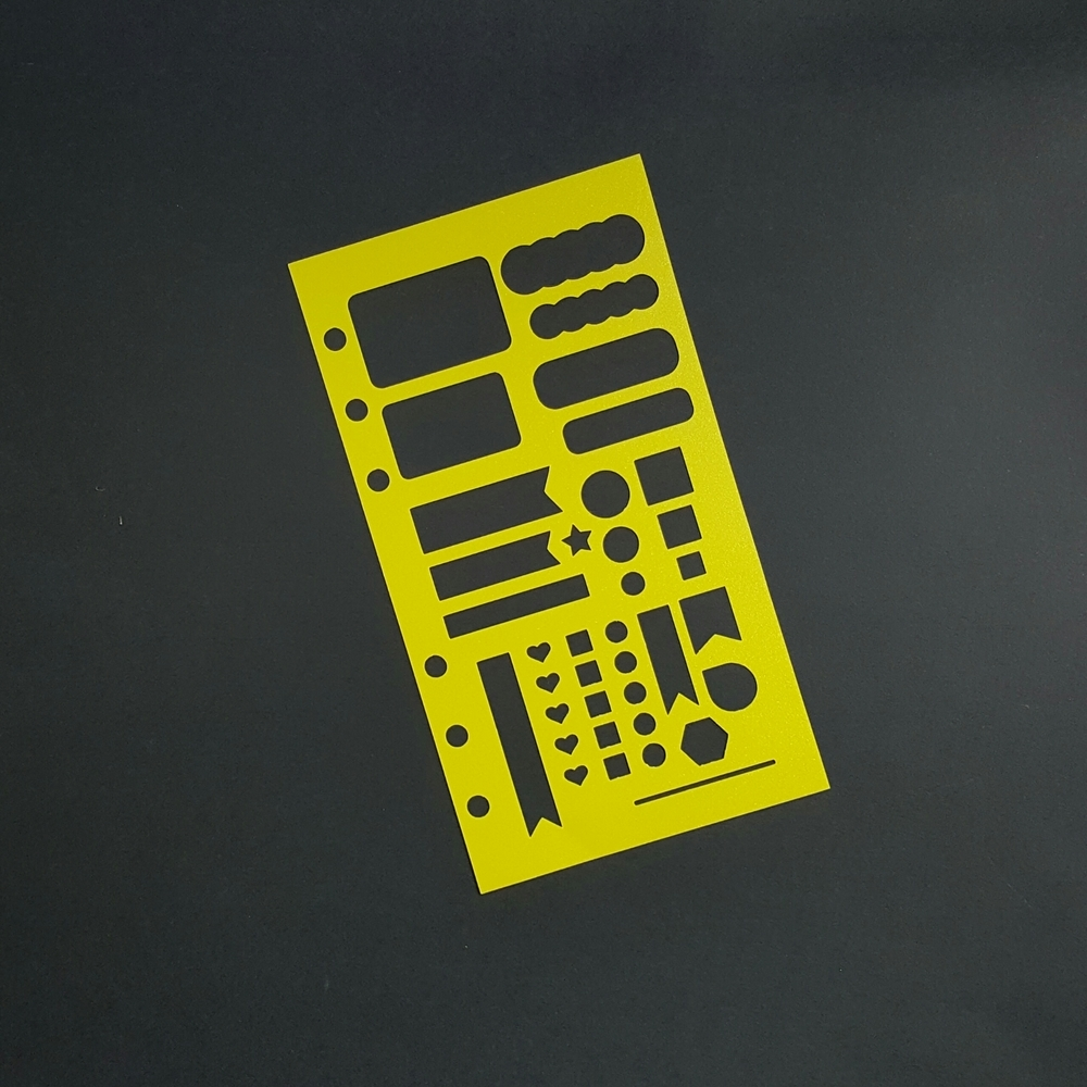 Nesty Personal Planner Poly Stencil - Yellow 00627
