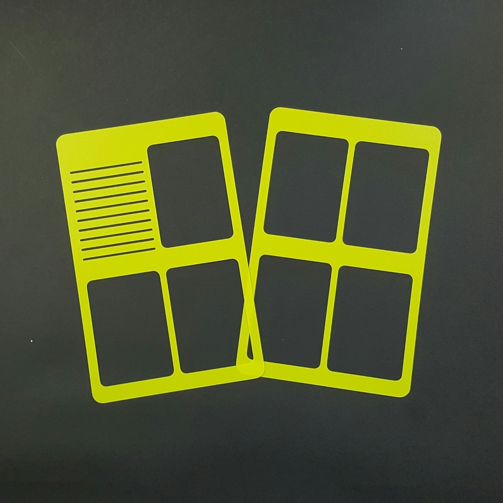 WO2P Pocket Size Planner Poly Stencil - Bright Green 00623