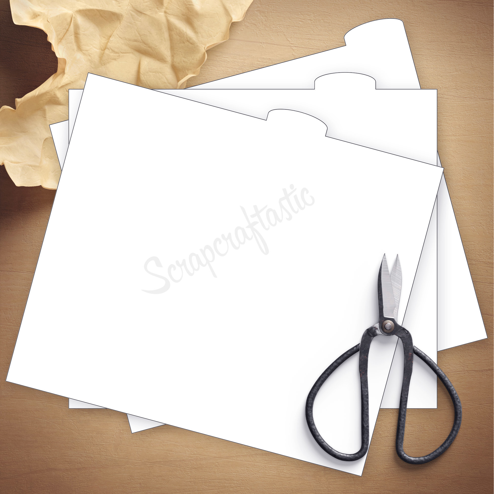 3 Tab A6 Size Traveler's Notebook Cover Templates 08004