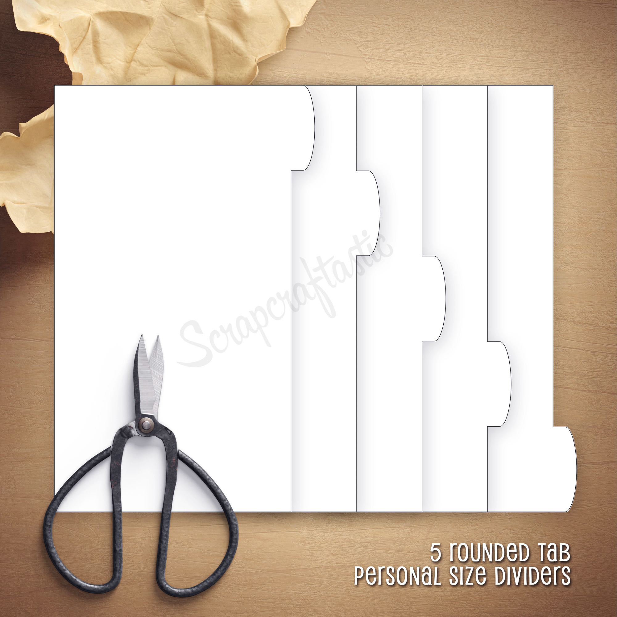5 Rounded Tab Personal Dividers Template 07006