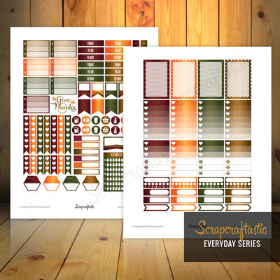 Give Thanks Everyday Series Printable Planner Stickers for the Classic MAMBI Happy Planner