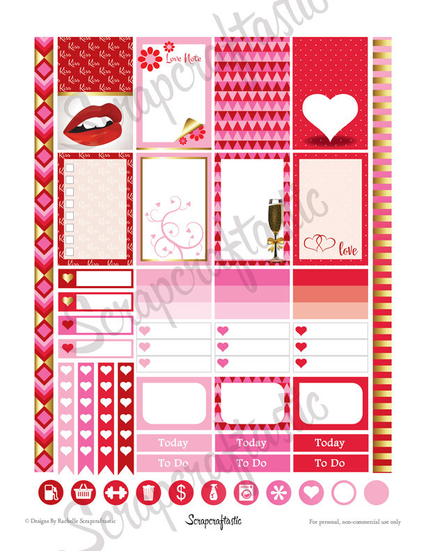 My Heart Printable Planner Stickers for the Classic Mambi Happy Planner