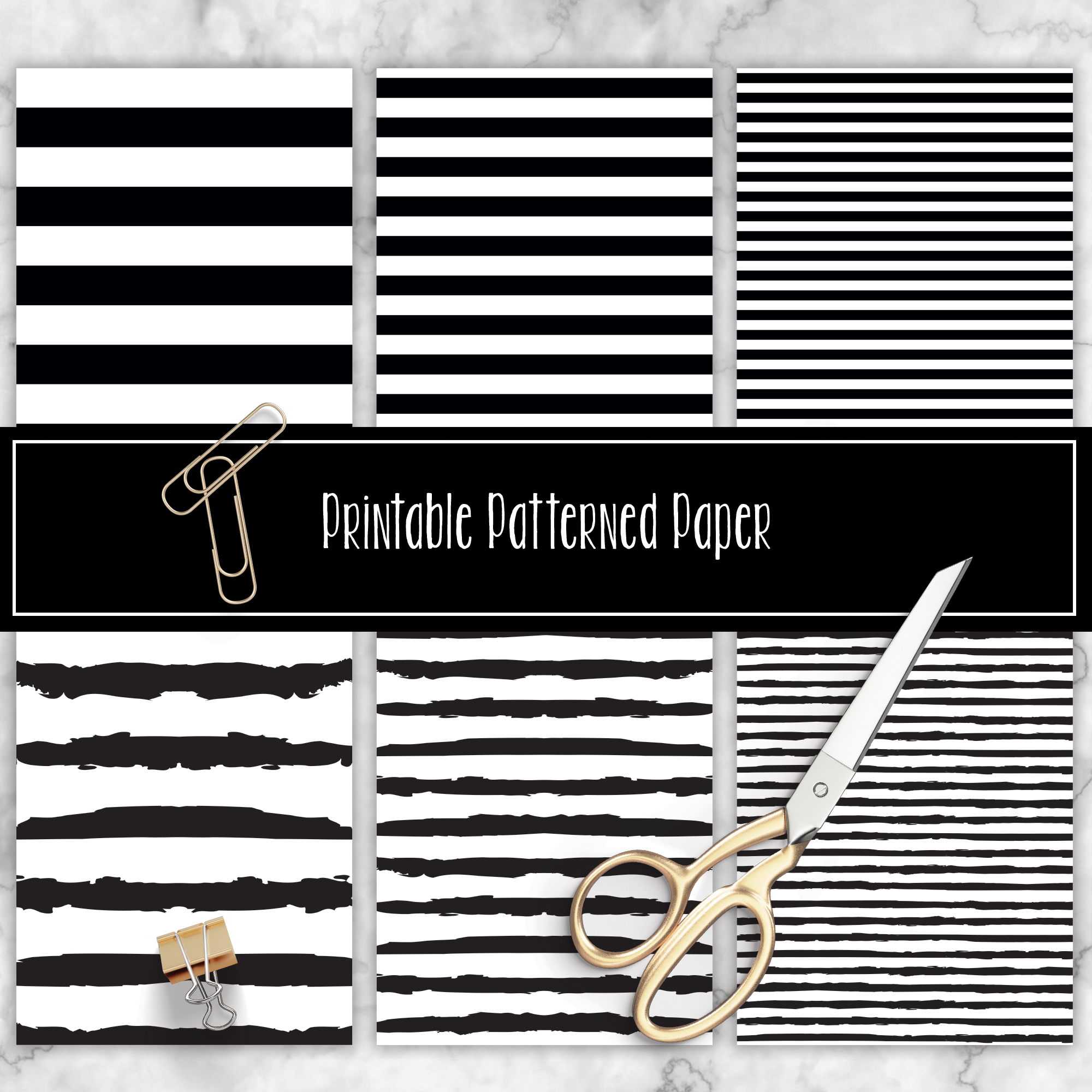 Black and White Printable Pattern 08001