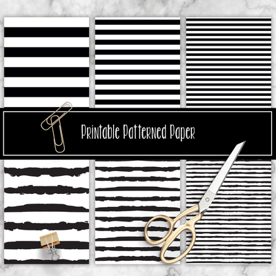 Black and White Stripes Printable Pattern