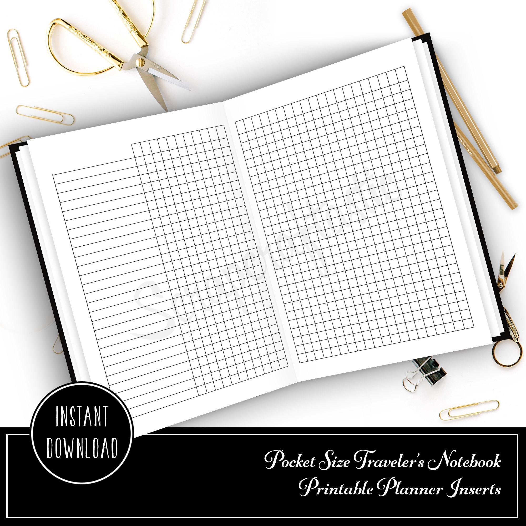 Habit Tracker Pocket Size Traveler's Notebook Printable Planner Inserts 00811