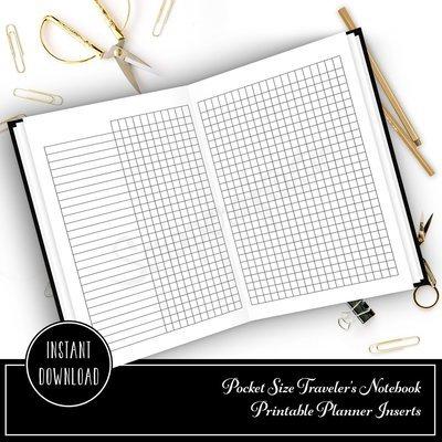 Habit Tracker Pocket Size Traveler's Notebook Printable Planner Inserts