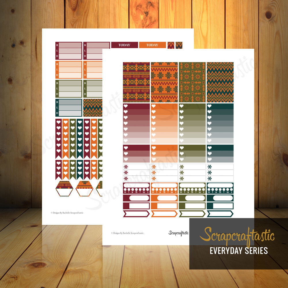 Pembrook Everyday Series Printable Planner Stickers for the Classic MAMBI Happy Planner 04083