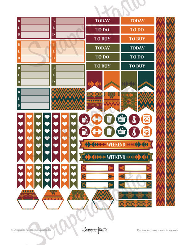 Pembrook Everyday Series Printable Planner Stickers for the Classic MAMBI Happy Planner