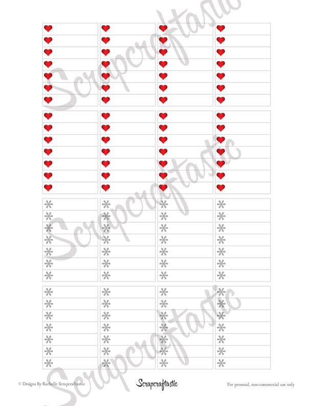 Valentine Vamped List Printable Planner Stickers for MAMBI Happy Planner