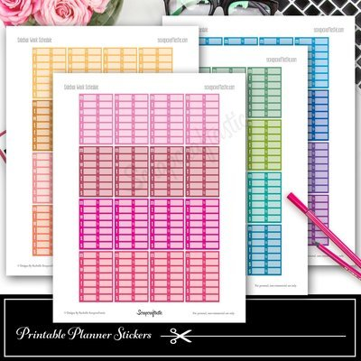 Sidebar Work Week Schedule Printable Planner Stickers and Silhouette Cut File
