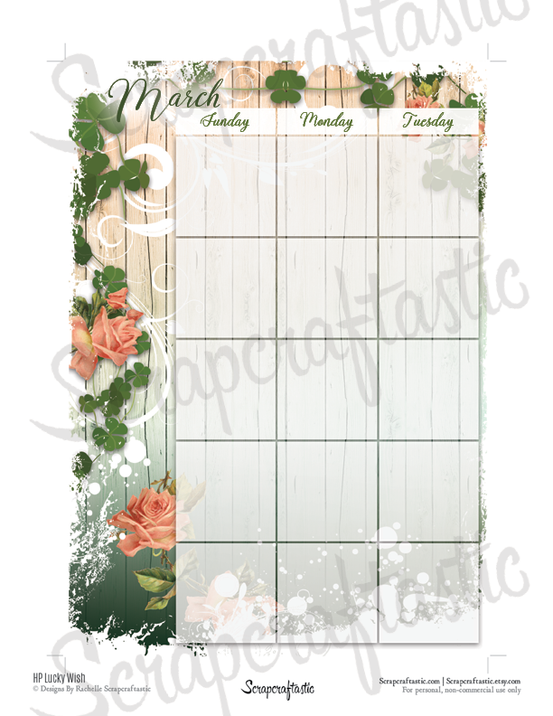 Lucky Wish Spread Printable Planner Sticker Overlay for classic size Mambi Happy Planner