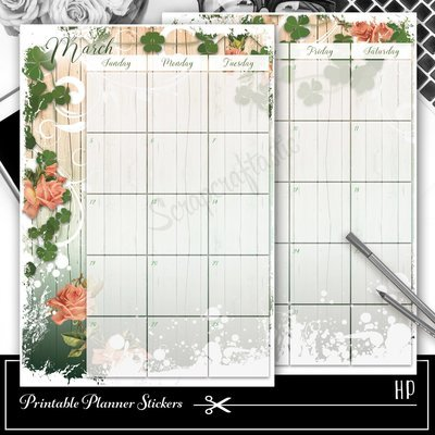 CLASSIC DISC - Lucky Wish Spread Printable Planner Sticker Overlay for classic size Mambi Happy Planner