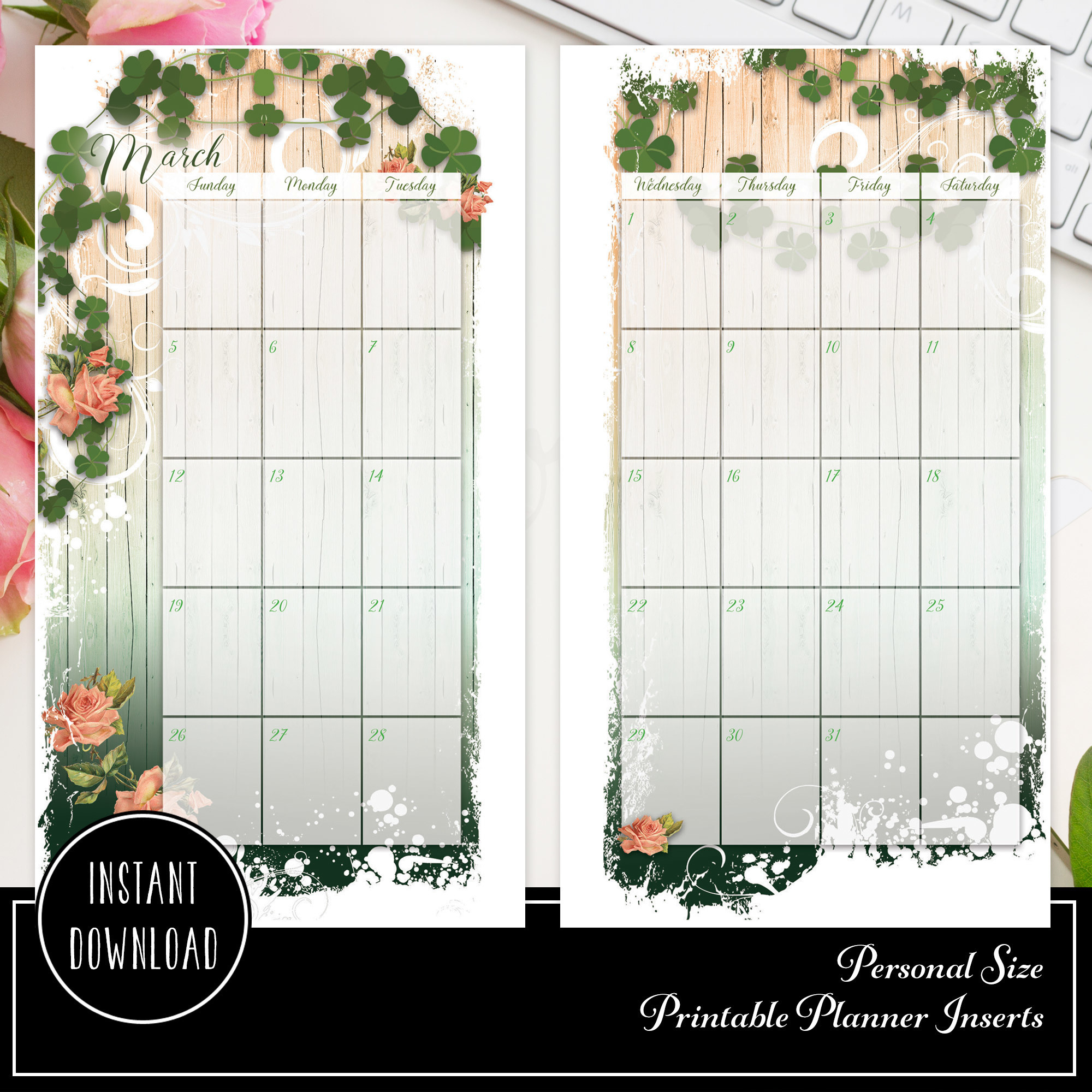 Lucky Wish  for Personal Size Printable Planner Insert 00202