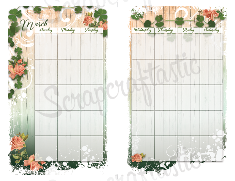 Lucky Wish for Half Page Size Printable Planner Insert