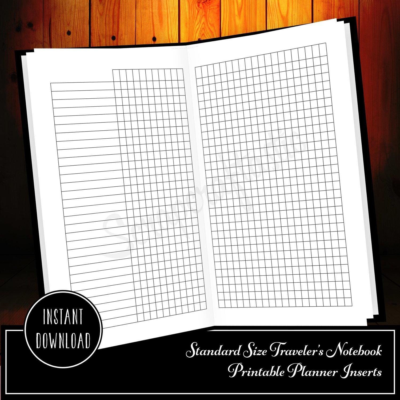 Habit Tracker Standard/Regular Size Traveler's Notebook Printable Planner Inserts
