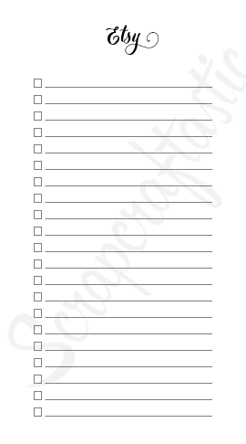 [PRINTED] Shopping Check List Personal Size Printable Planner Inserts
