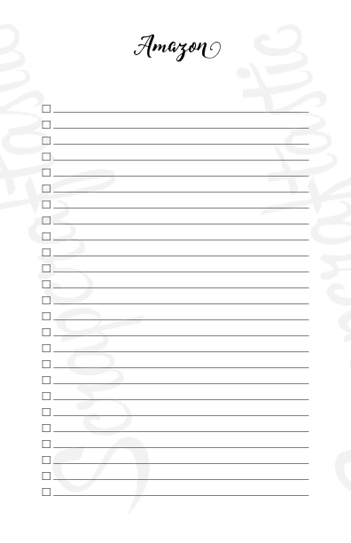 [PRINTED] Shopping Check List Half Page/A5 Size Printable Planner Inserts
