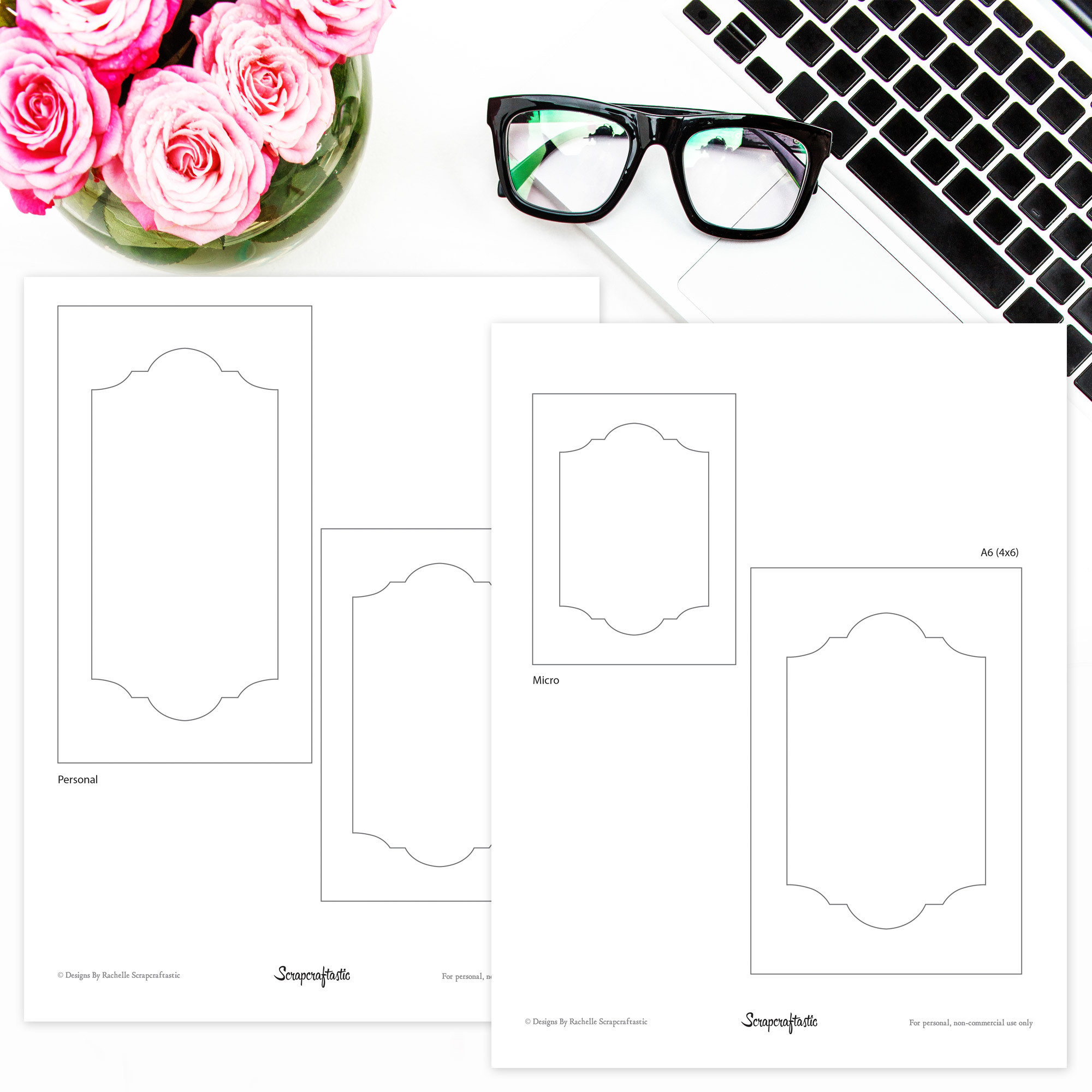 Traveler's Notebook Shaker Dashboard Frames Freebie 08000