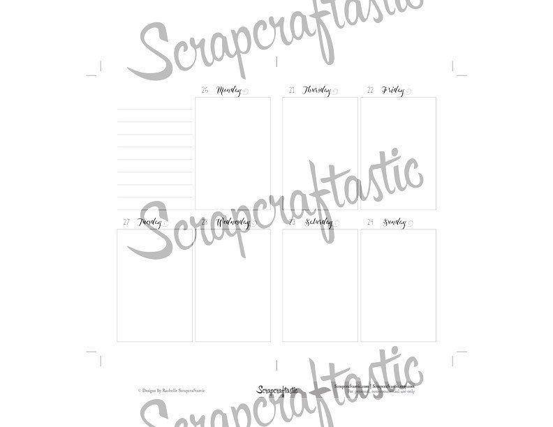 Jul-Sep 2017 Pocket Traveler's Notebook Printable Planner Inserts