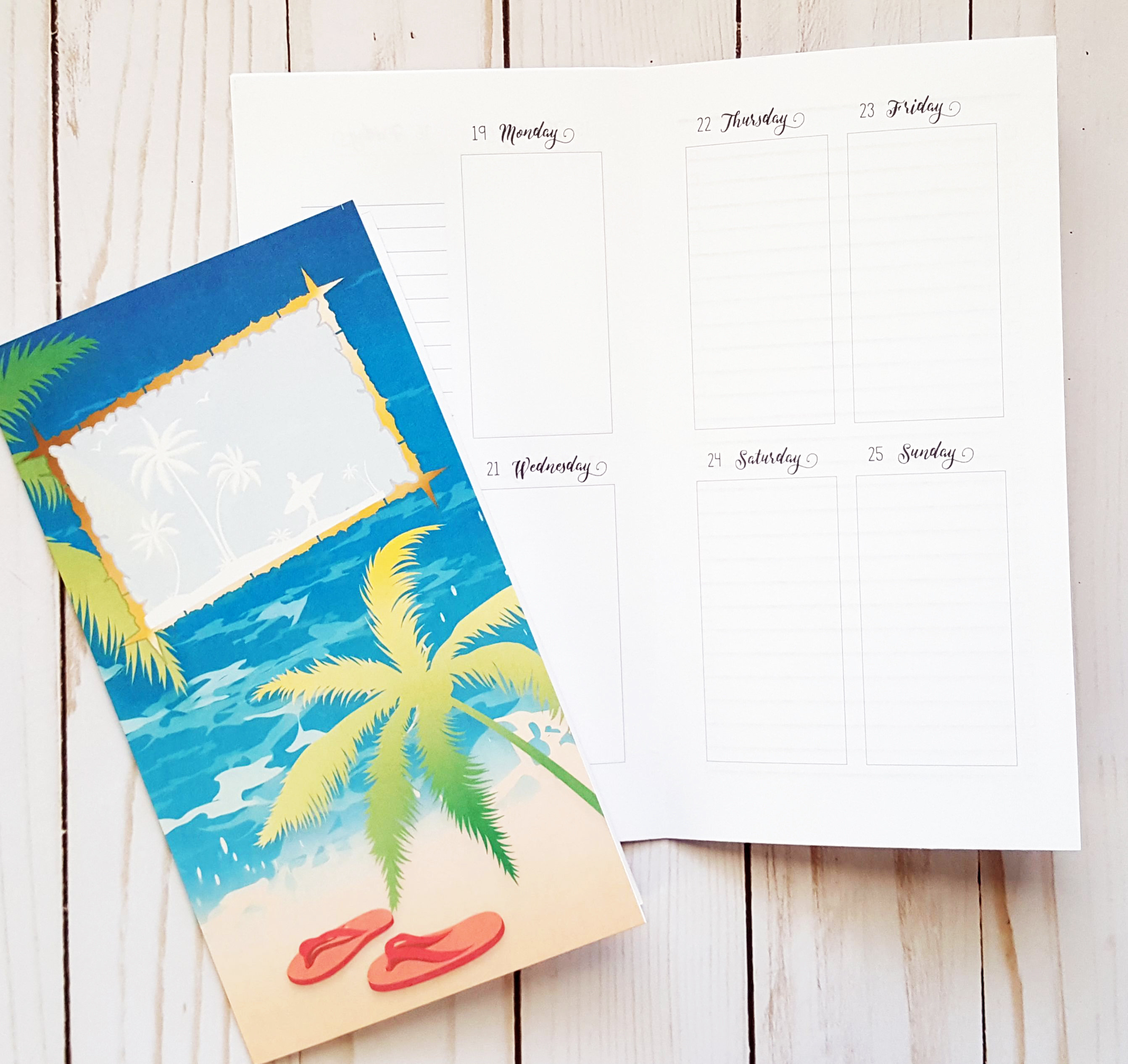 June 2017 Standard/Regular Traveler's Notebook Printable Planner Inserts