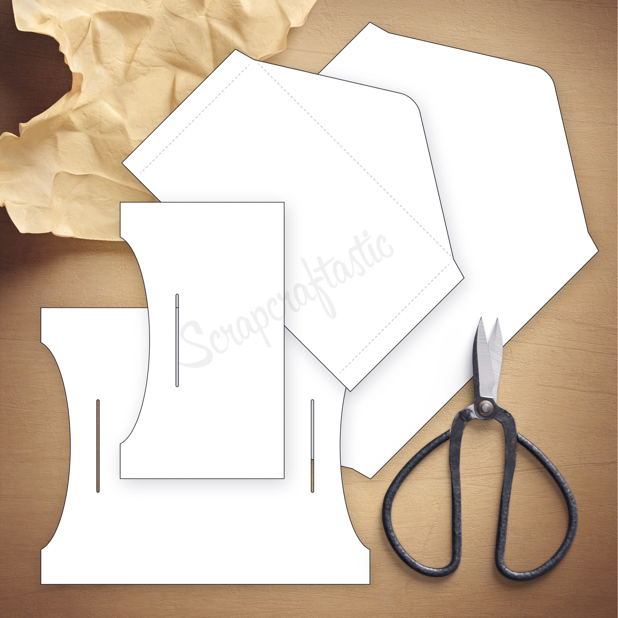 Double Envelope A6 Size Traveler's Notebook Insert Template & Cut Files 07015