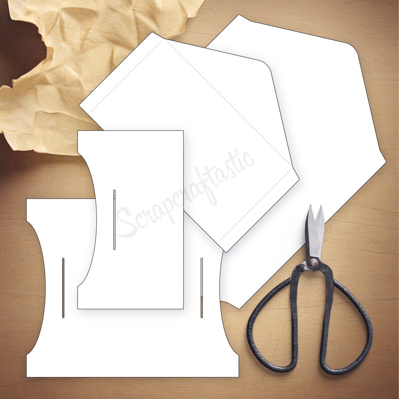 Double Envelope Standard Size Traveler's Notebook Insert Template & Cut Files