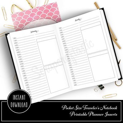 Full Month Notebook: Daily Pocket Size with MO2P, WO1P Horizontal and DO1P Daily Schedule Pages Printable