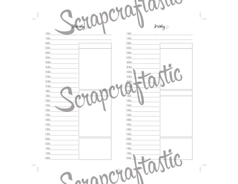 Full Month Notebook: Daily Personal Size with MO2P, WO1P Horizontal and DO1P Daily Schedule Pages Printable