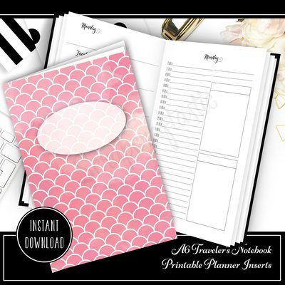 Full Month Notebook: Daily A6 Size with MO2P, WO1P Horizontal and DO1P Daily Schedule Pages Printable