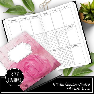 Deluxe Week on Two Pages (WO2P) B6 Traveler's Notebook Printable Inserts