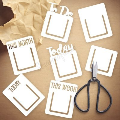 Page Markers Die Cut Template and Cut Files | Digital Download