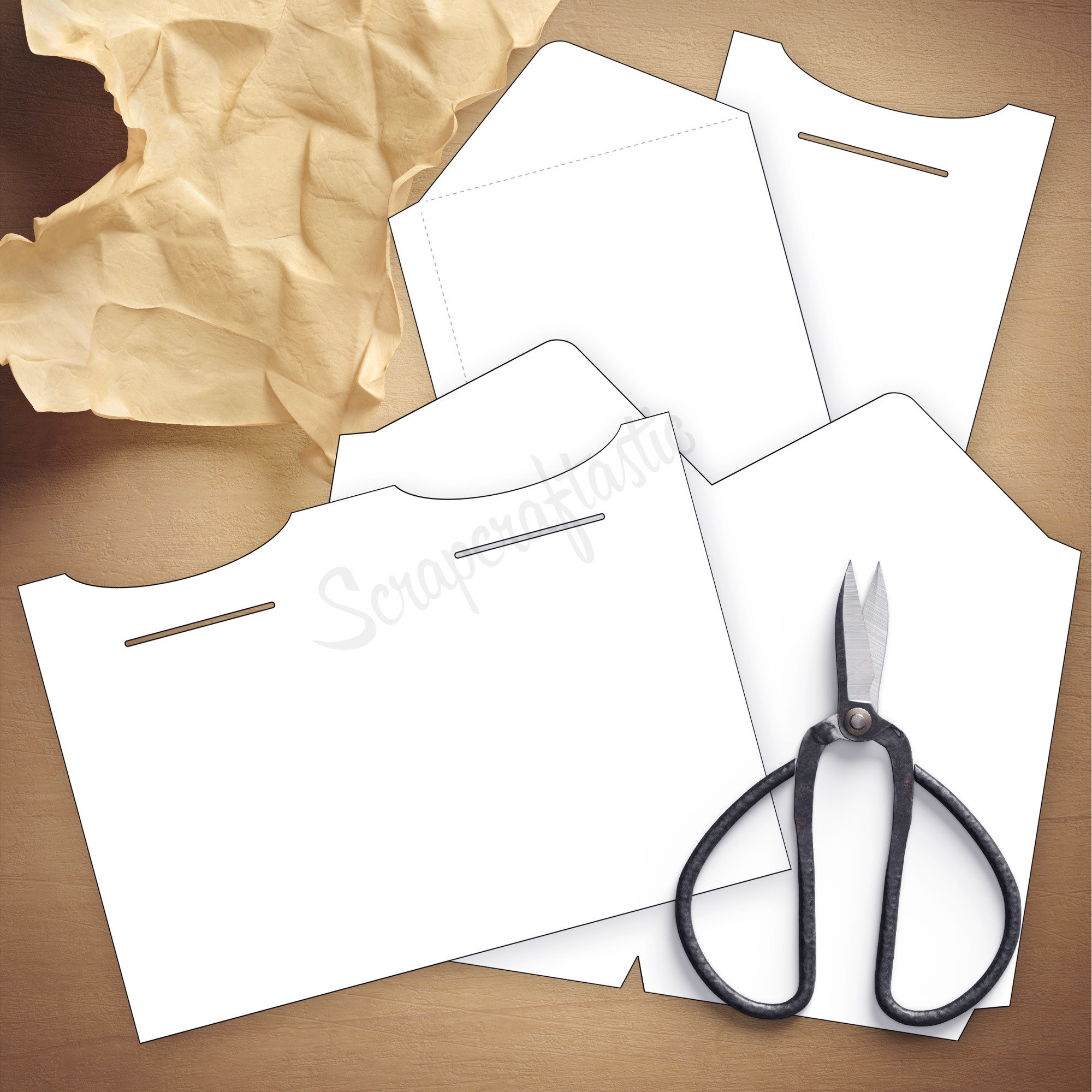 Double Envelope B6 Size Traveler's Notebook Insert Template & Cut Files 07019
