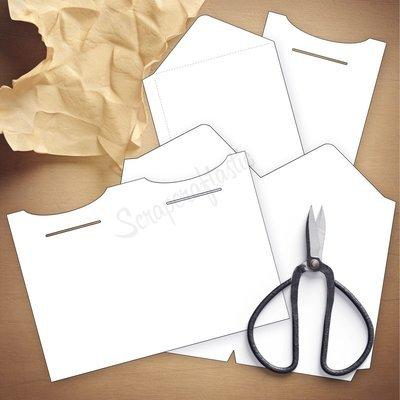 Double Envelope B6 Size Traveler's Notebook Insert Template & Cut Files