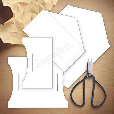 B6 SLIM - Double Envelope Traveler's Notebook Insert Template & Cut Files