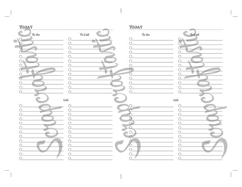 Multi List {PRINTED} B6 Size Traveler's Notebook Printable Planner Inserts