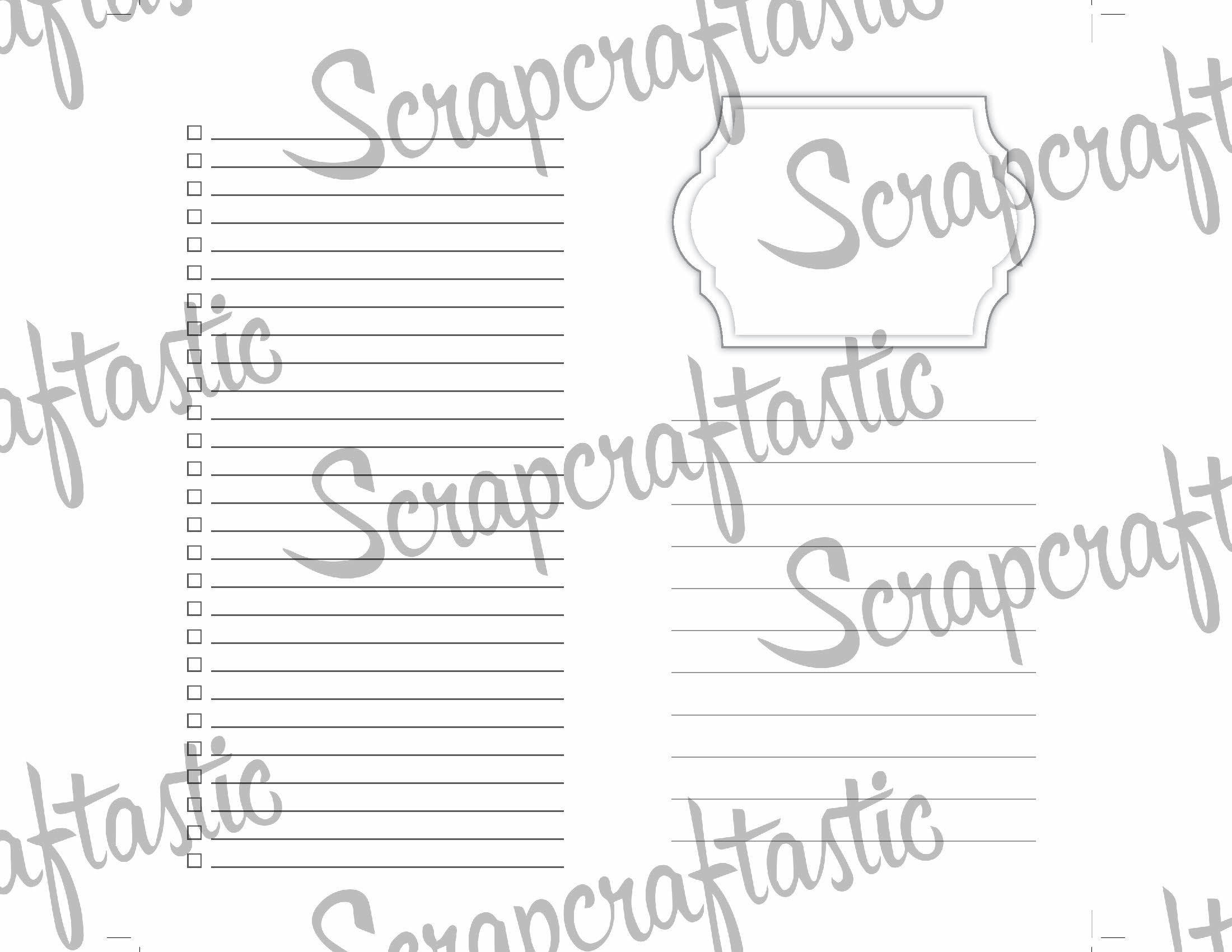 Full Notebook Dated: OCTOBER-DECEMBER / 4th Quarter 2017 B6 Size Printable Traveler's Notebook Insert