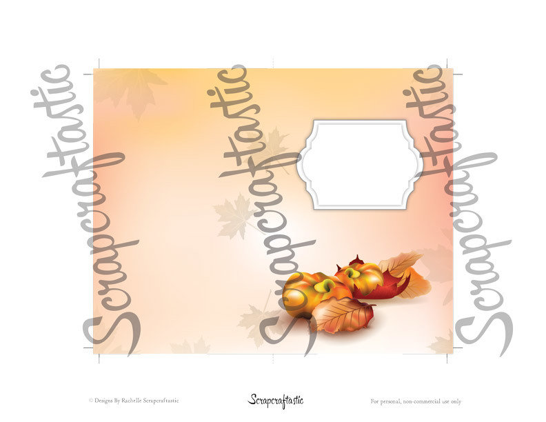 Fall Designed Pocket Size Printable Traveler's Notebook Insert