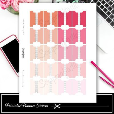 Tab Pinks Printable and Silhouette Cut File
