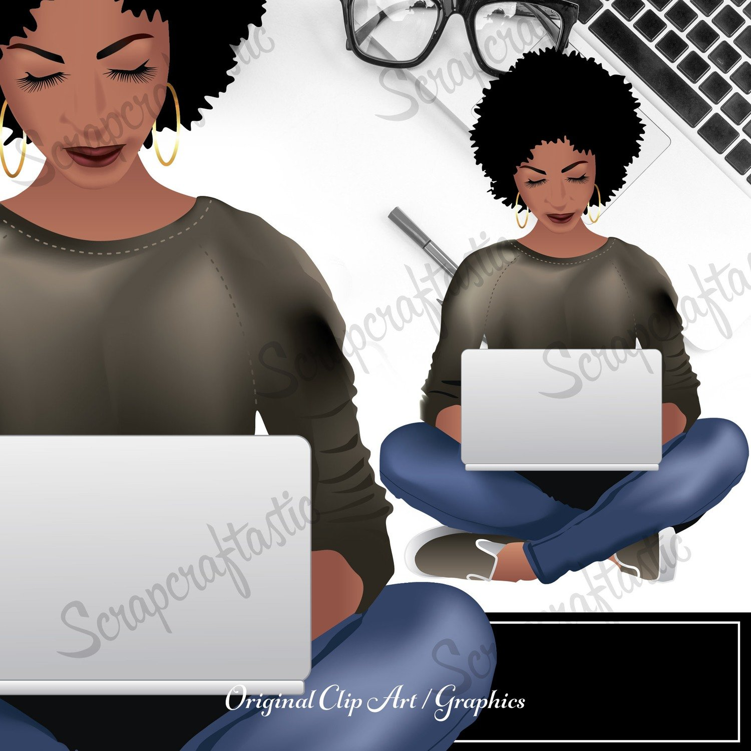 Planner Queen Brandy Clipart Graphic | Digital Download