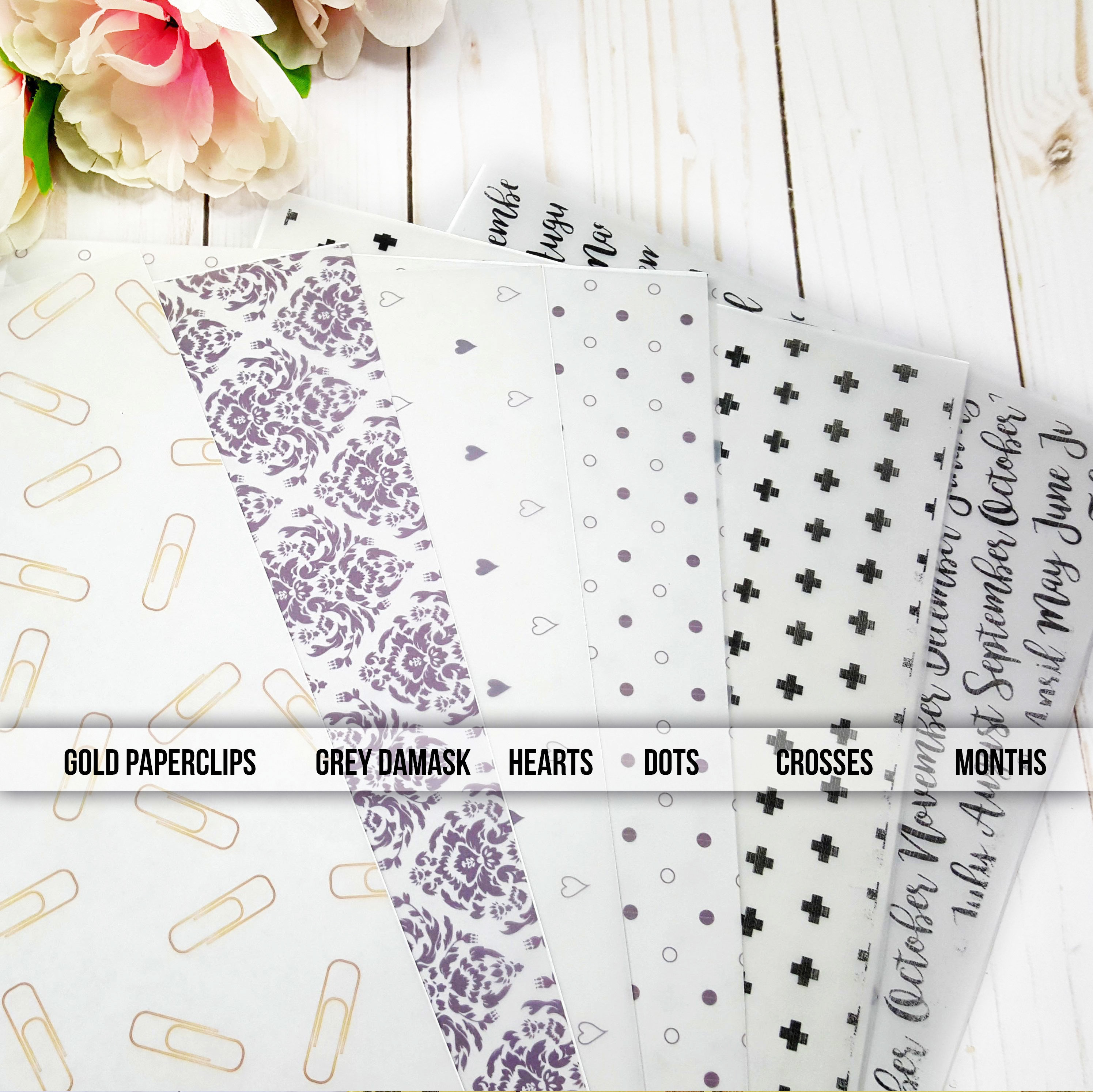 Neutral and Monochrome Vellum Sheets 90008P