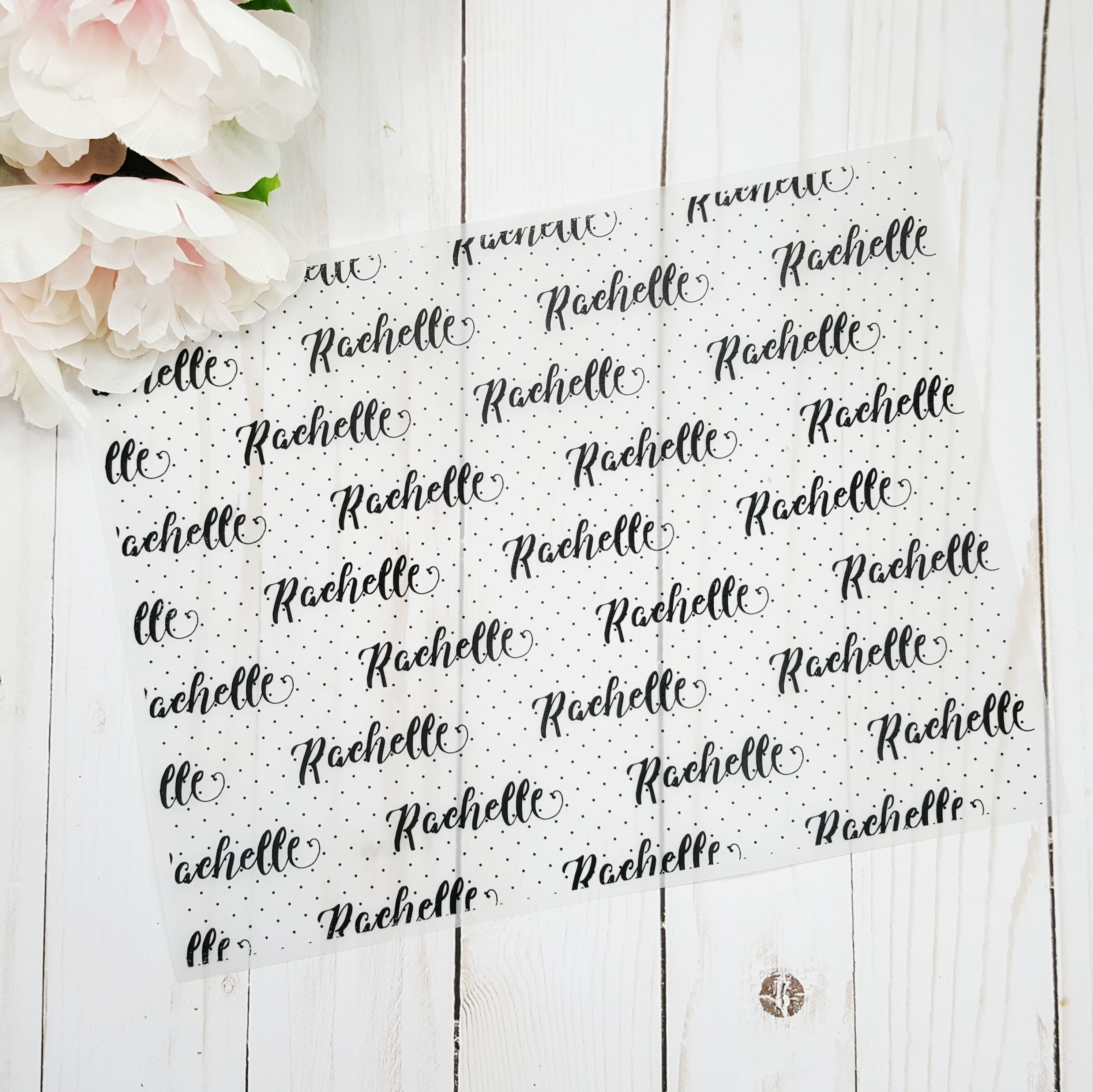 Personalized Name Vellum Printable Pattern 12x12 Sheet {DIGITAL DOWNLOAD} 90010