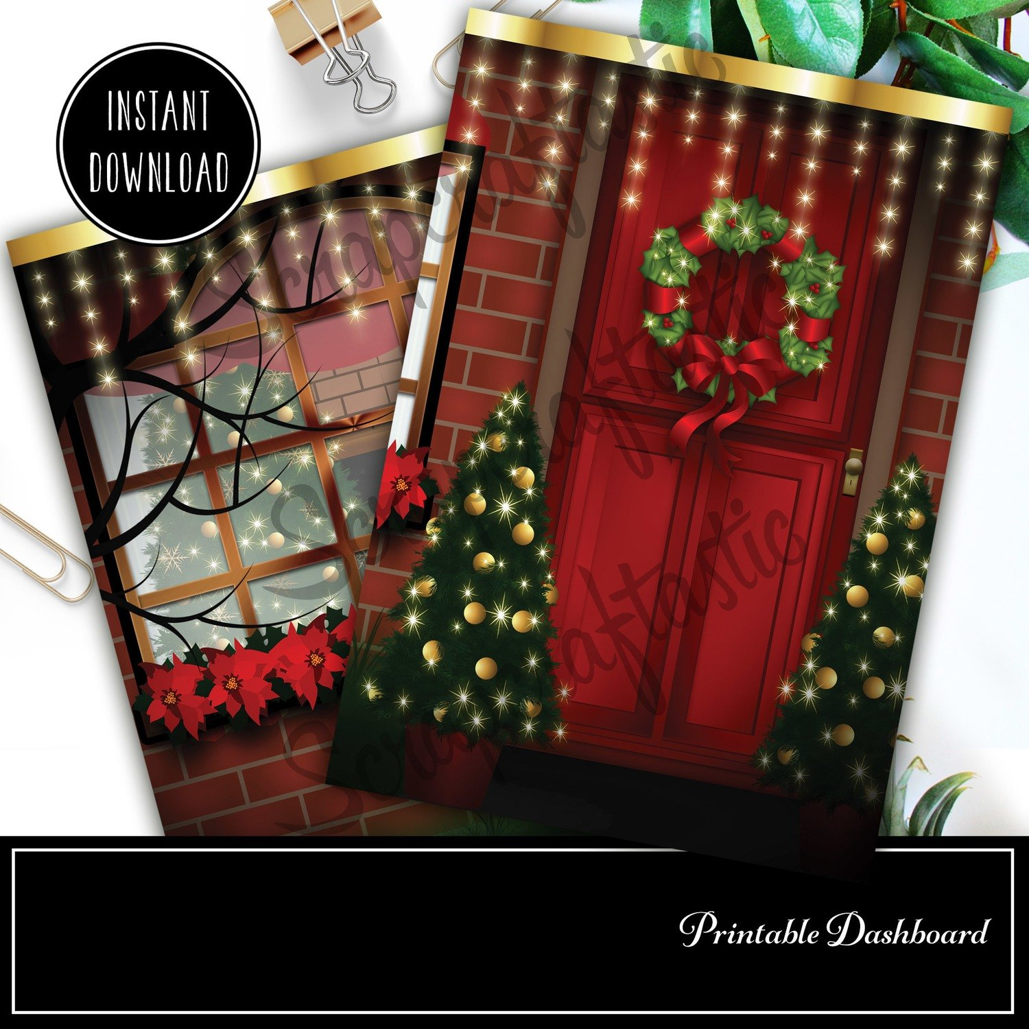 Christmas Digital Illustration B6 Printable / Digital Download Dashboard