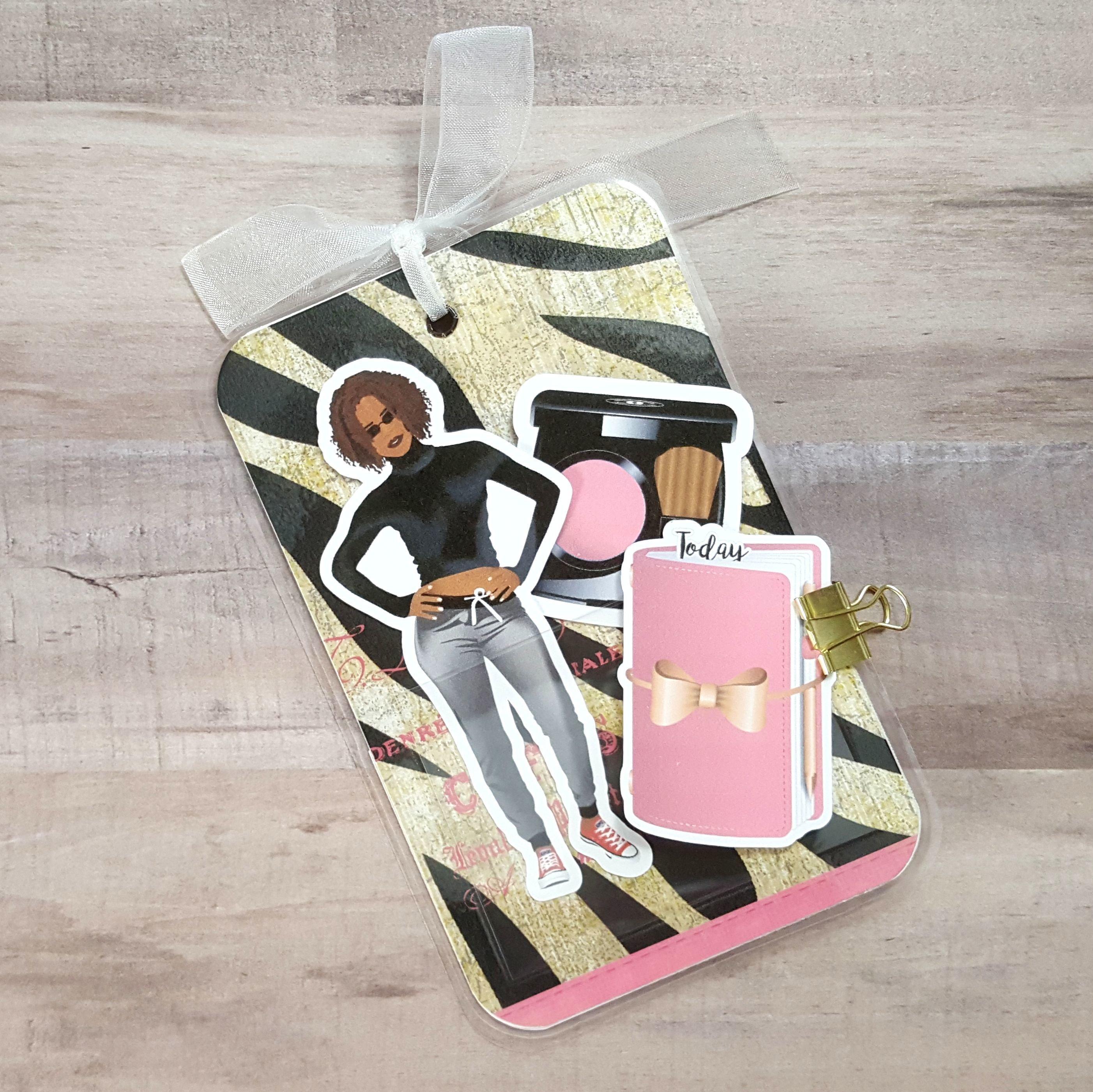 Darling Pink Zebra Pocket Size Loaded Page Marker 20171105-04