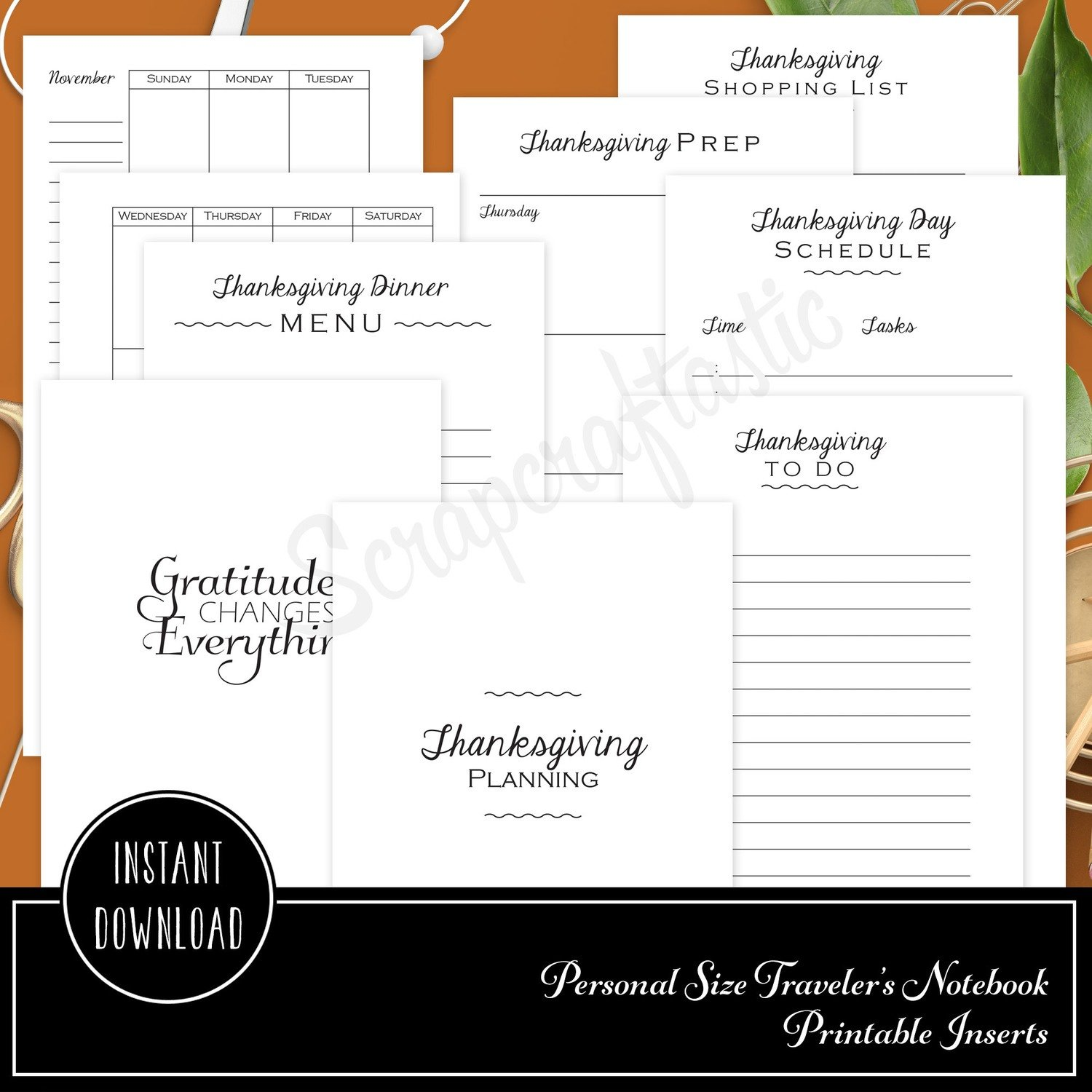 graphic regarding Thanksgiving Planner Printable identify Thanksgiving Coming up with Printable Person Dimension Planner or Organizer Inserts for Filofax, Kikki K