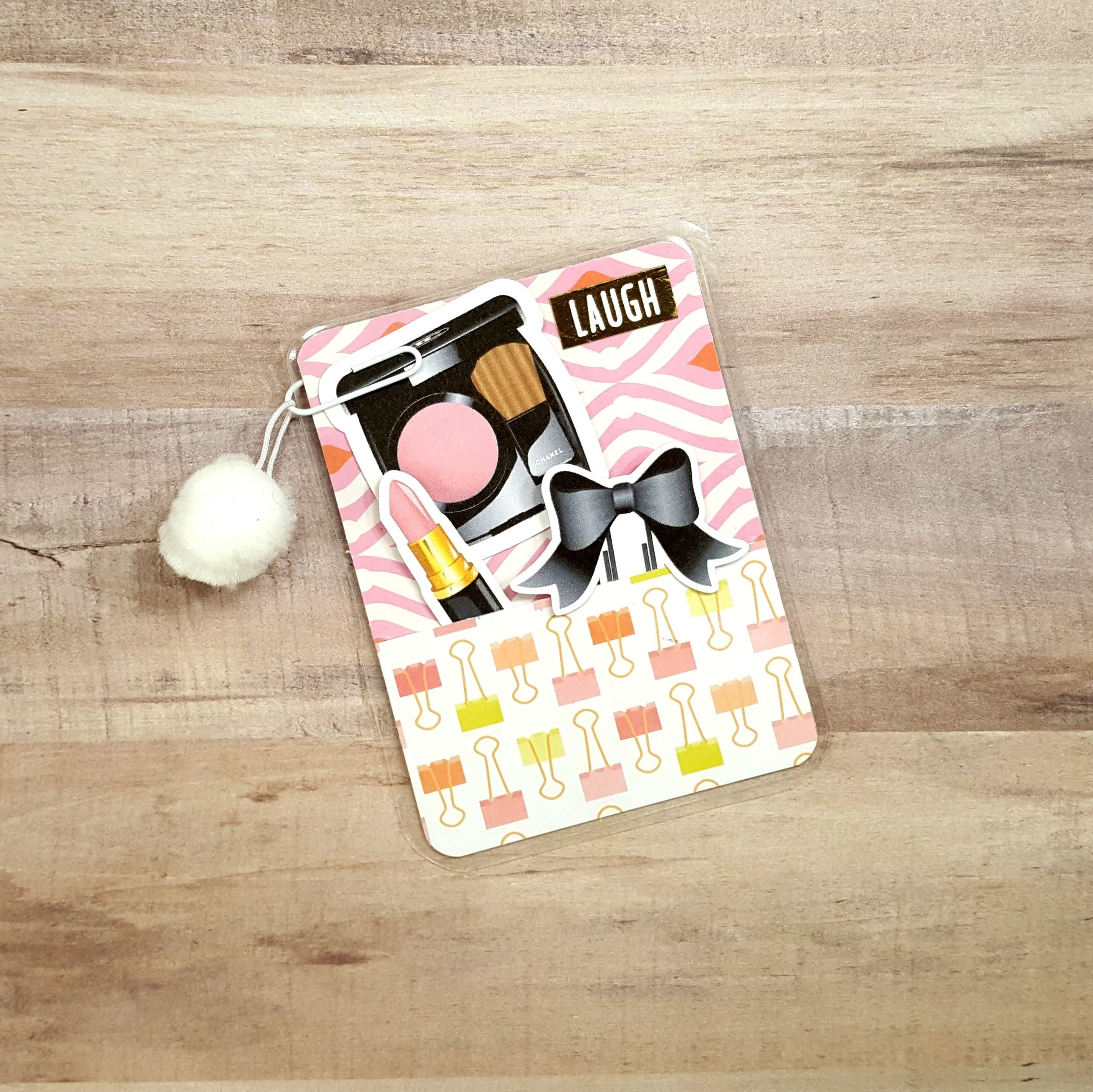 Makeup and Coffee Pom Pom Micro Size Loaded Page Marker 20171108-02