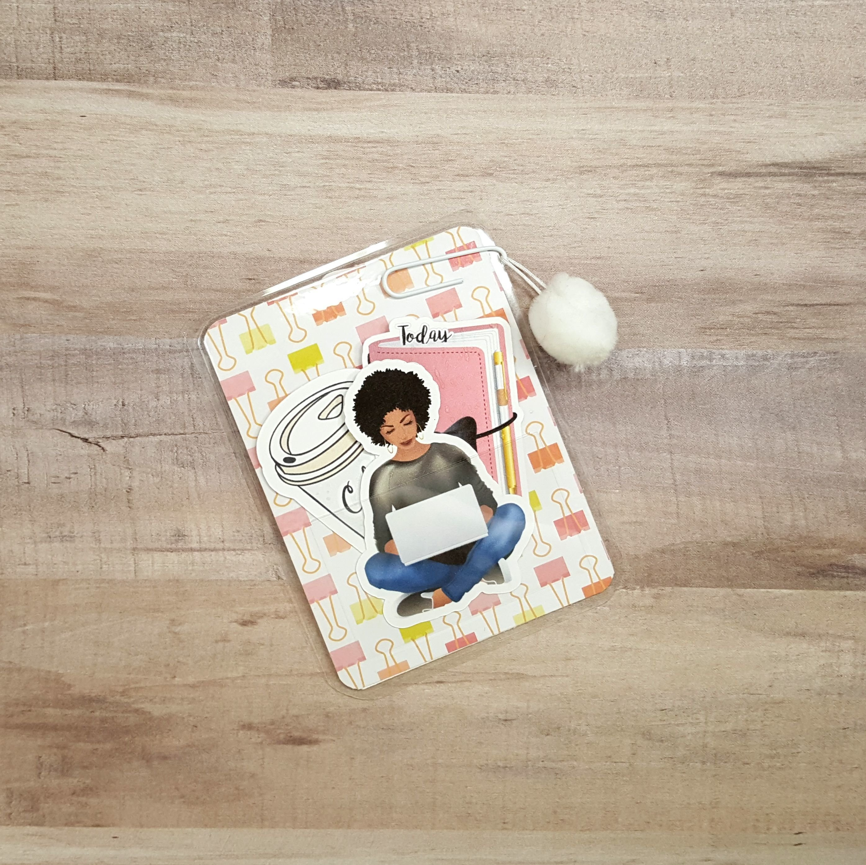 Makeup and Coffee Pom Pom Micro Size Loaded Page Marker