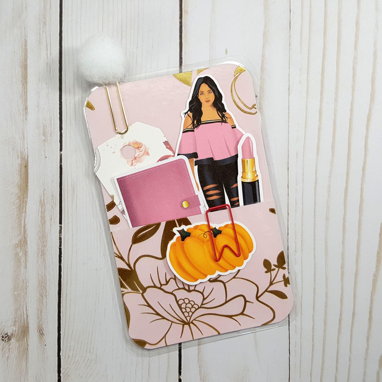 Pumpkins and Pink Pocket Size Loaded Page Marker 20171117-05