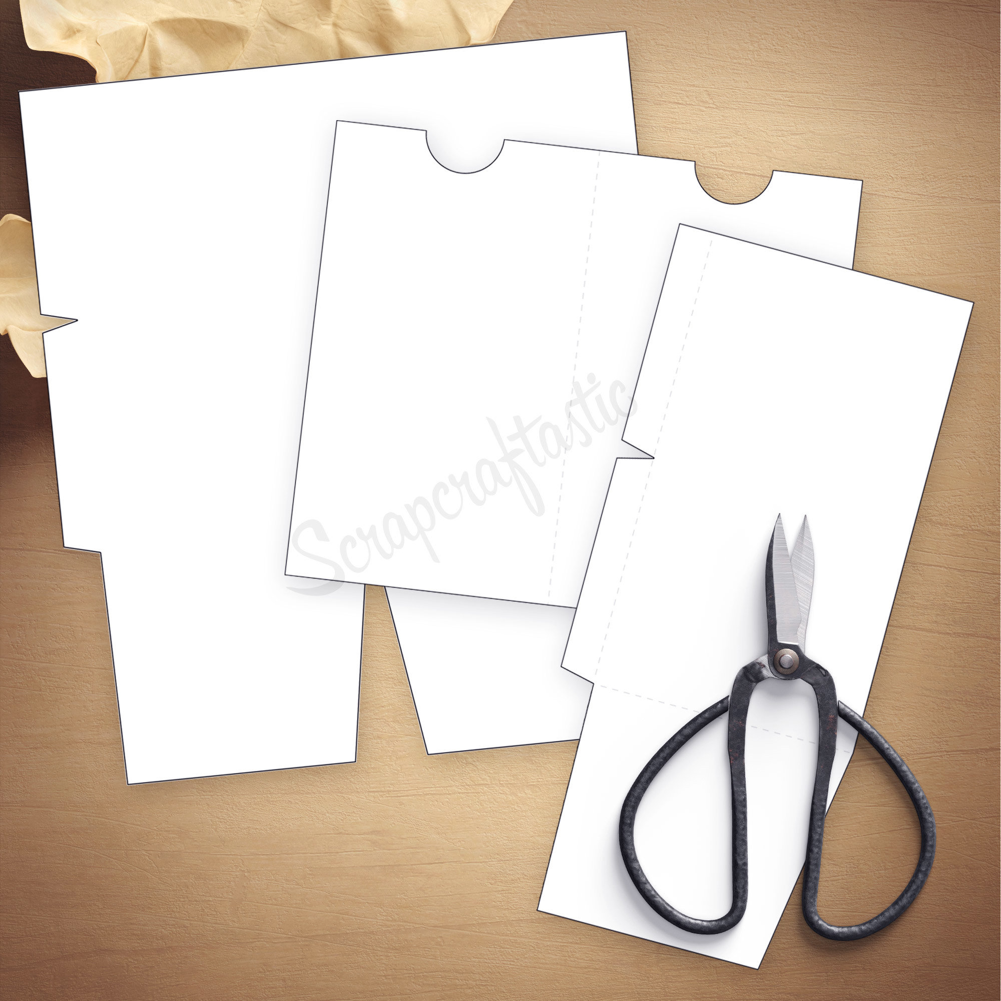 Folder Insert Template for Cahier Size Traveler's Notebook 07024