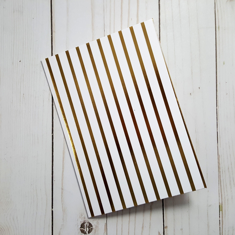Gold and White Strip Double Envelope for B6 Traveler's Notebook Insert