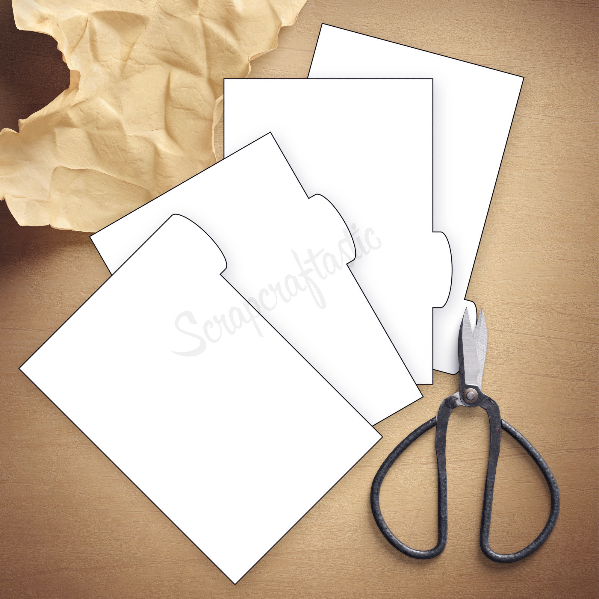 Shop Scrapcraftastic – 4 Rounded Tab Pocket Rings Dividers Template ...